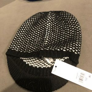 Calvin Klein hat black and white knit